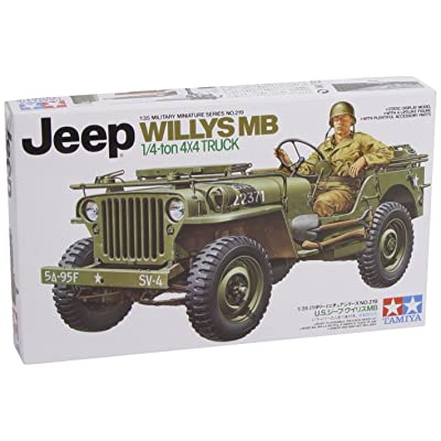 Tamiya Jeep Willys 1/4 Ton 4X4 Hobby Model Kit: Toys & Games