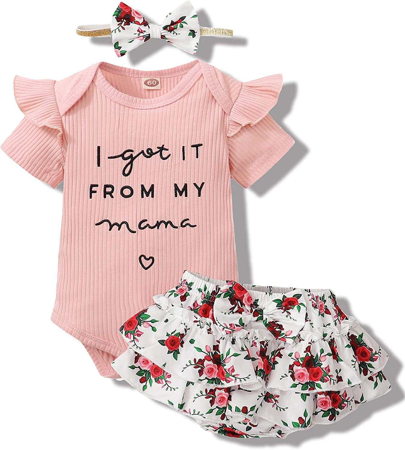 Newborn Infant Baby Girl Clothes Romper Shorts Set Floral Summer Outfits Cute Baby Clothes Girl