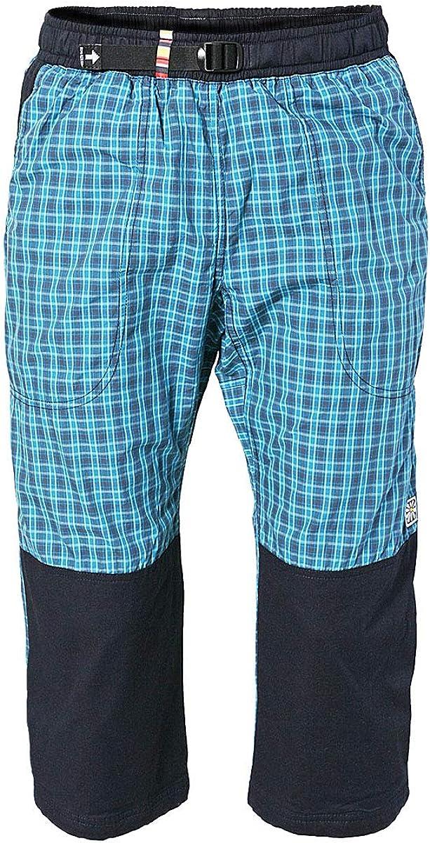 REJOICE® Moth 3/4 - Pantalones de Tres Cuartos con cuadritos y Cintura elástica para Hombres y Mujeres (Unisex) Boulder, Escalada, Trekking, ...