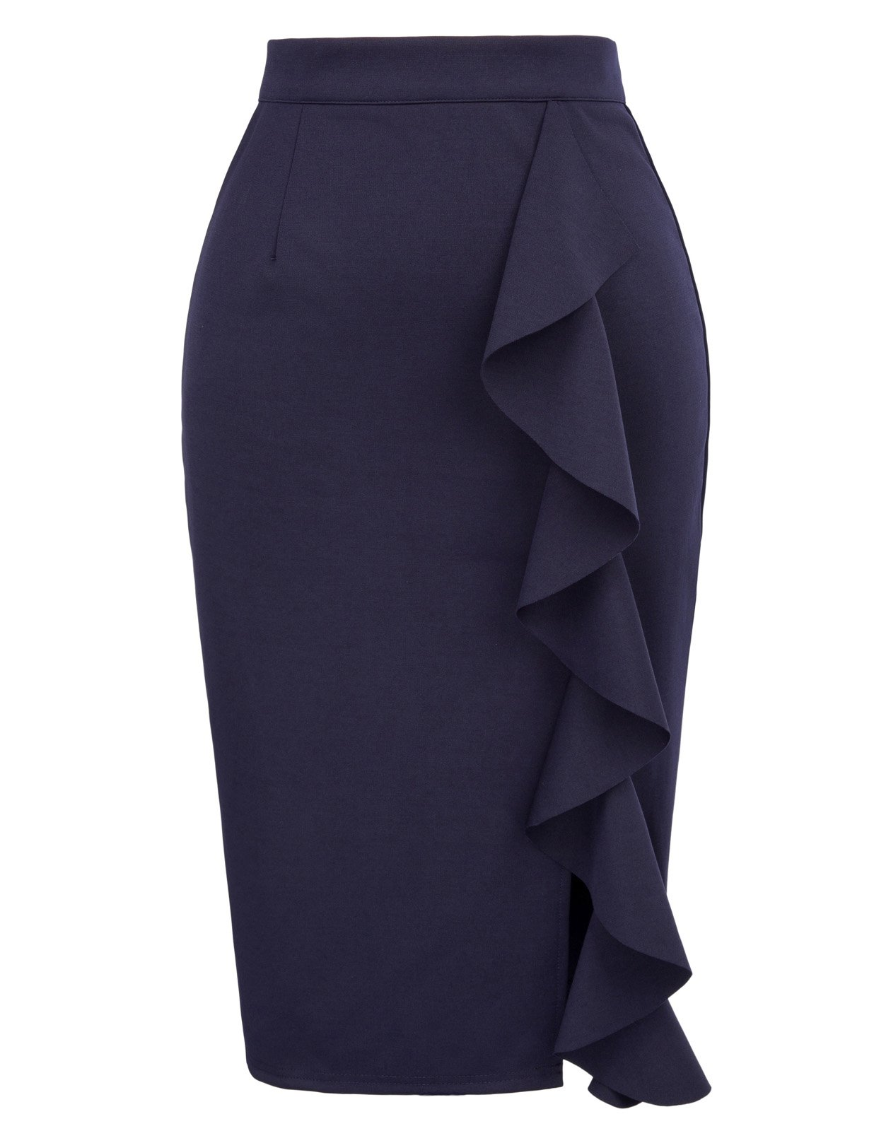 GRACE KARIN Women's Solid Wear to Work Bodycon Midi Skirts Size M Navy Blue by GRACE KARIN