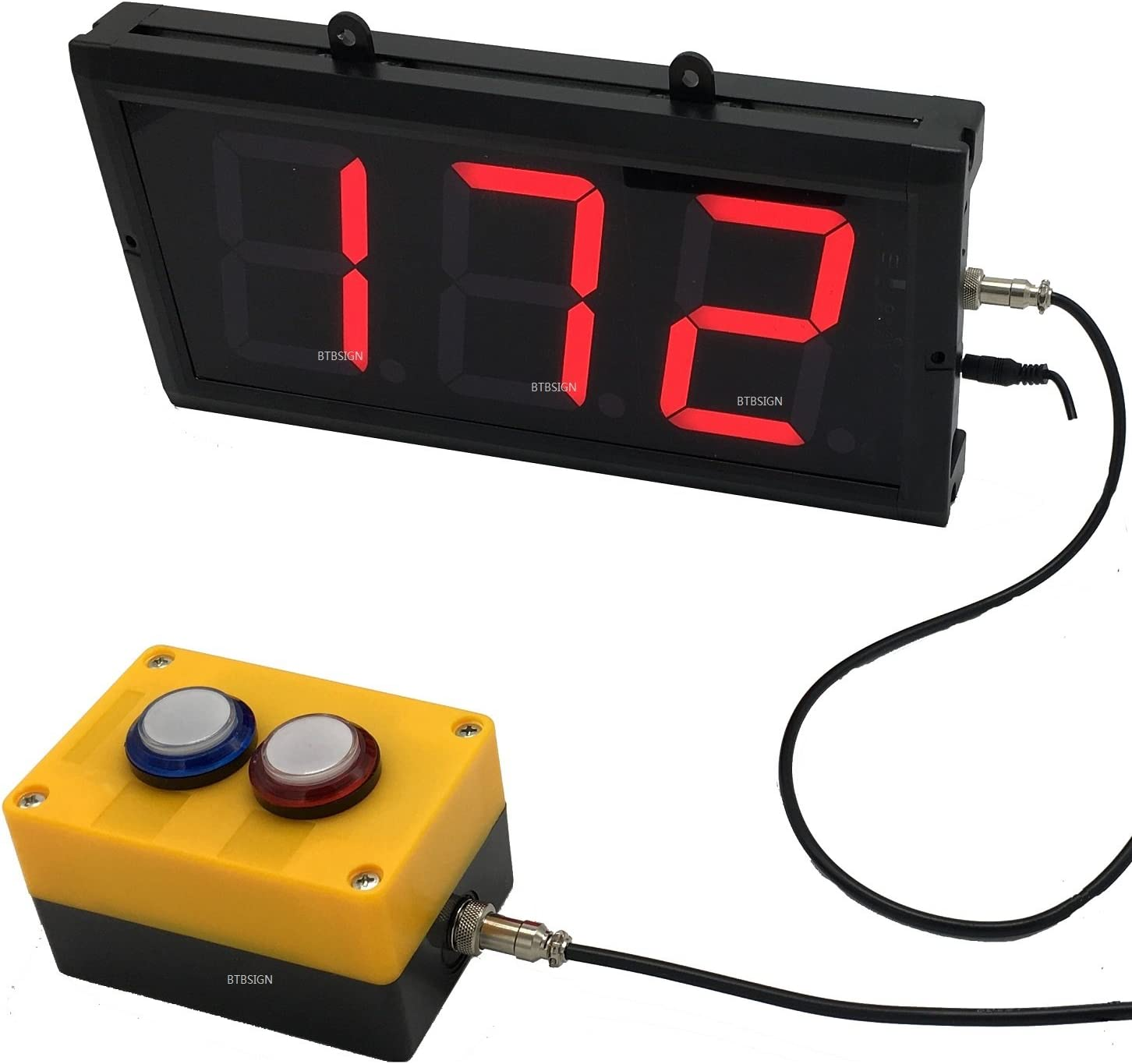 BTBSIGN LED Up/Down Counter with Switch Box & Remote Red 4'' LED Display (3Digits)
