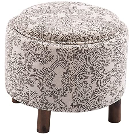 Amazon.com: Taburete de madera maciza para sofá o casa, de ...