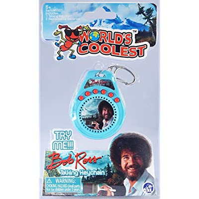 World's Coolest Bob Ross Talking Keychain: Toys & Games