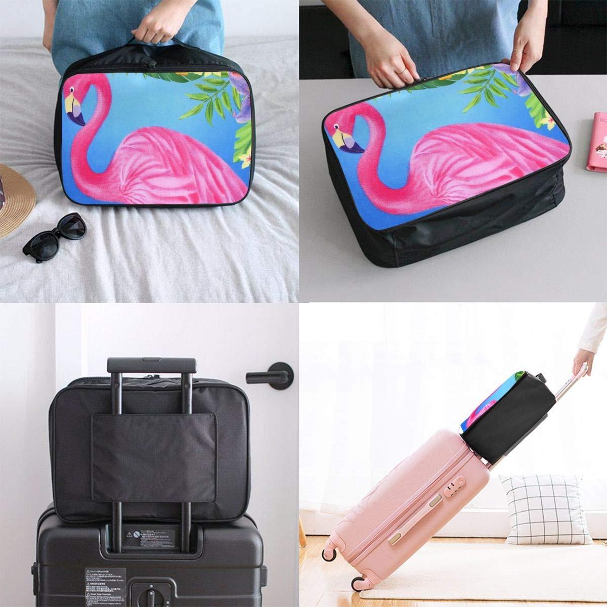 Lightweight Large Capacity Portable Duffel Bag for Men /& Women Spring Flamingo Art Travel Duffel Bag Backpack JTRVW Luggage Bags for Travel