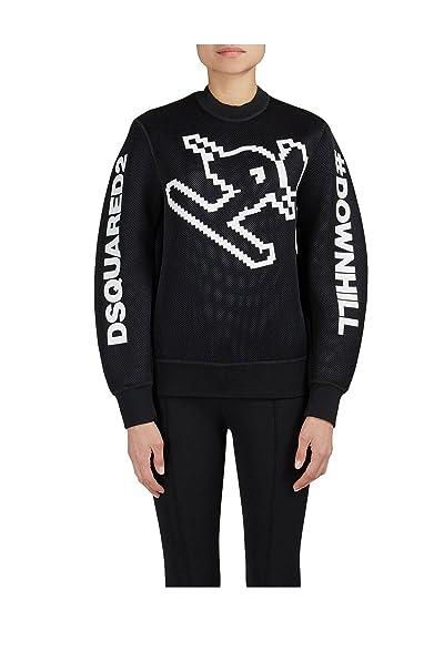 DSQUARED2 Felpa Junior dq02vn fd900 d2 Ski Downhill Sweatshirt Neoprene fw  17 18 12A 03a07f45bd01