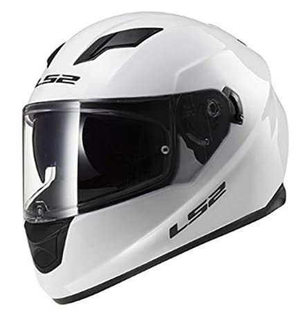 ca5e3093cbe Amazon.com: LS2 Stream Solid Full Face Motorcycle Helmet With Sunshield  (White, Medium): Automotive