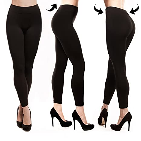 Fleece Lined Leggings Women, Click ON 2 Pack Black Image for $12.99 Deal, Seamless, Opaque, Thick Spandex Tights