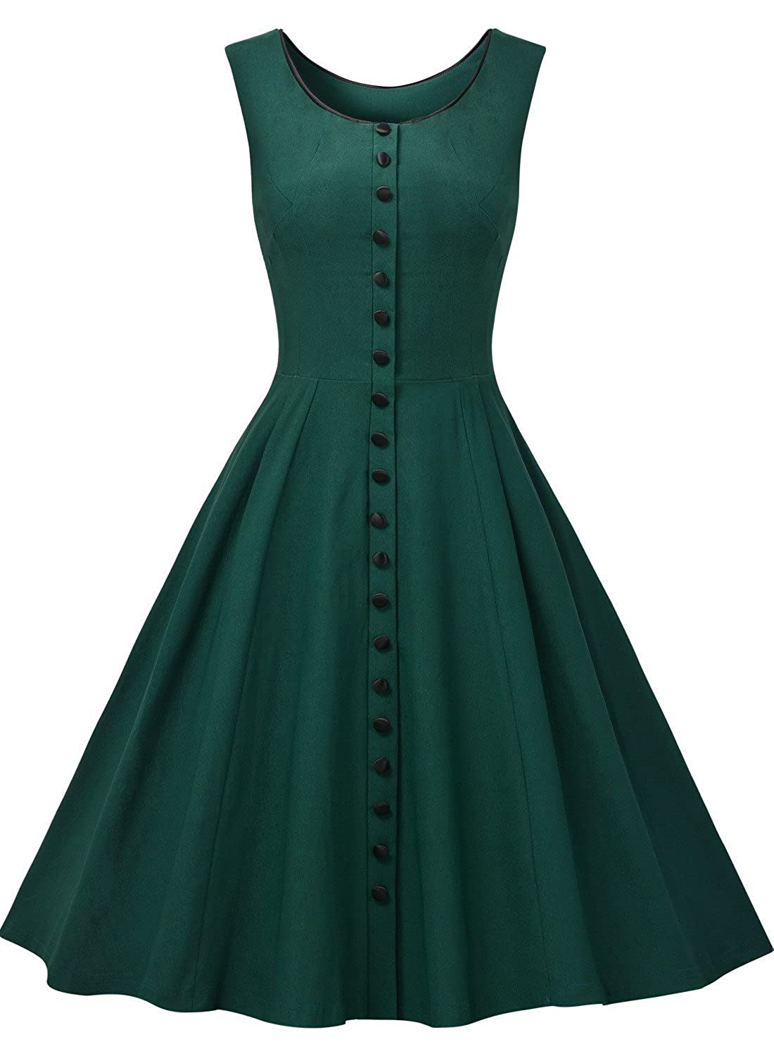 MissMay Women\'s Vintage 1950s Elegant Sleeveless Cocktail Party ...