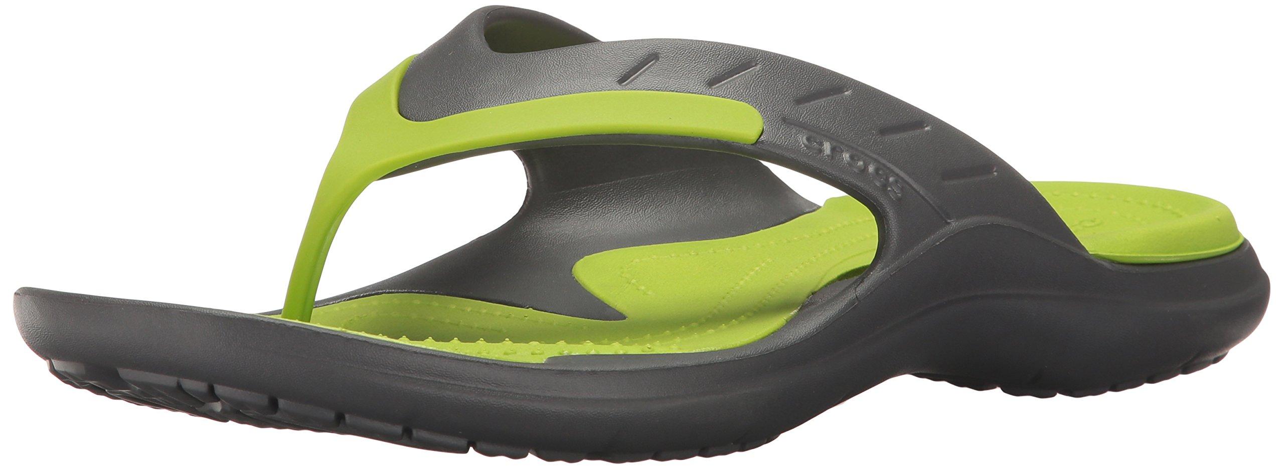 Crocs Unisex Modi Sport Flip Flop, Graphite/Volt Green, 43-44 EU/10 US Men/12 US Women