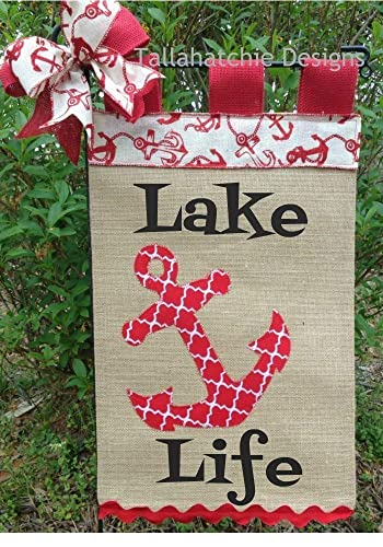Amazon Com Anchor Garden Flag Flag Personalized Yard Flag Lake Life