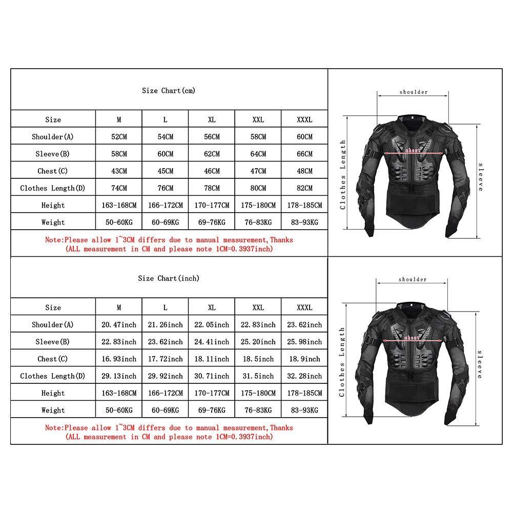 Gereton Motorrad Schutzjacke Protektorenjacke Herren Schutzkleidung Motocross ATV Racing Wirbels/äule R/ücken Brustschutz