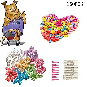 HINATAA - 160 Unidades de Tapas de uñas para Mascotas, Gatos o Perros, con