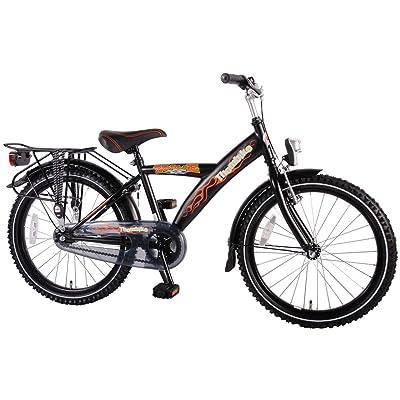 Vélo 20pouces vélo pour enfant garçon Frein à rétropédalage Éclairage Noir 62027