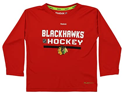 Amazon.com   NHL Kids Chicago Blackhawks Long Sleeve Performance Tee ... 3c90725ce