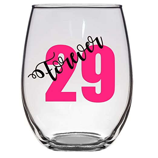 Copa de vino Forever 29, 21 onzas, 30 cumpleaños, 40 ...
