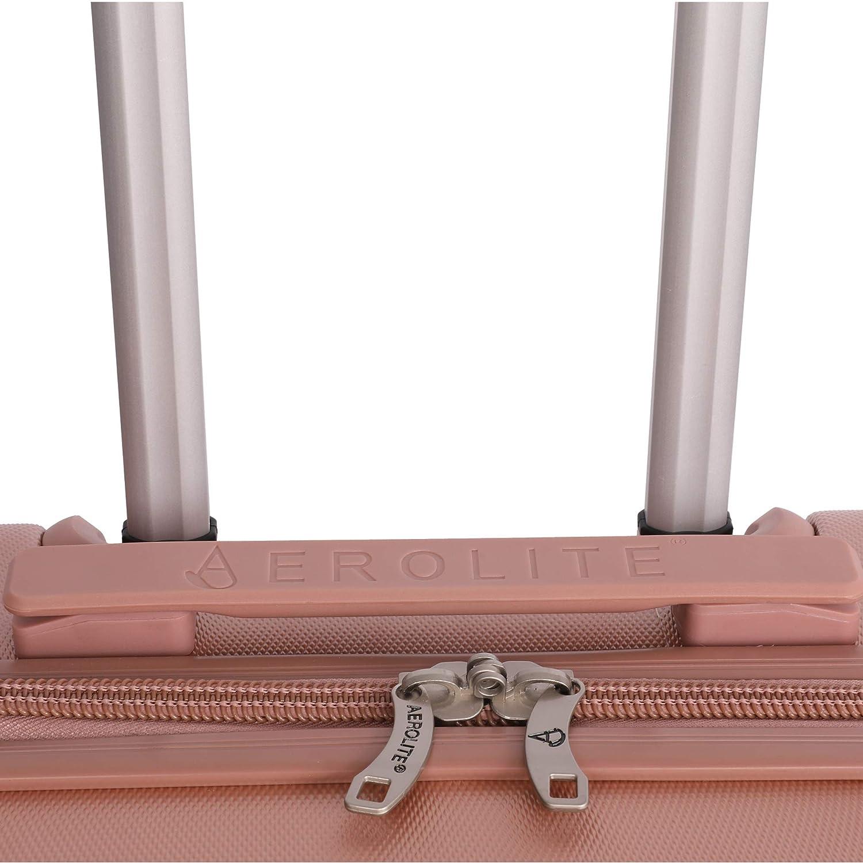 British Airways ABS trolley bagaglio a mano valigia rigida con 4 ruote Rosa Oro Jet2 Aerolite 56x45x25 dimensione massima Easyjet