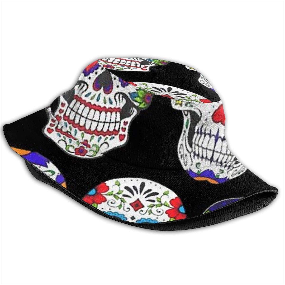 Unisex 100/% Polyester Sugar Skulls Mesh Hat Cool Trucker Baseball Cap for Unisex