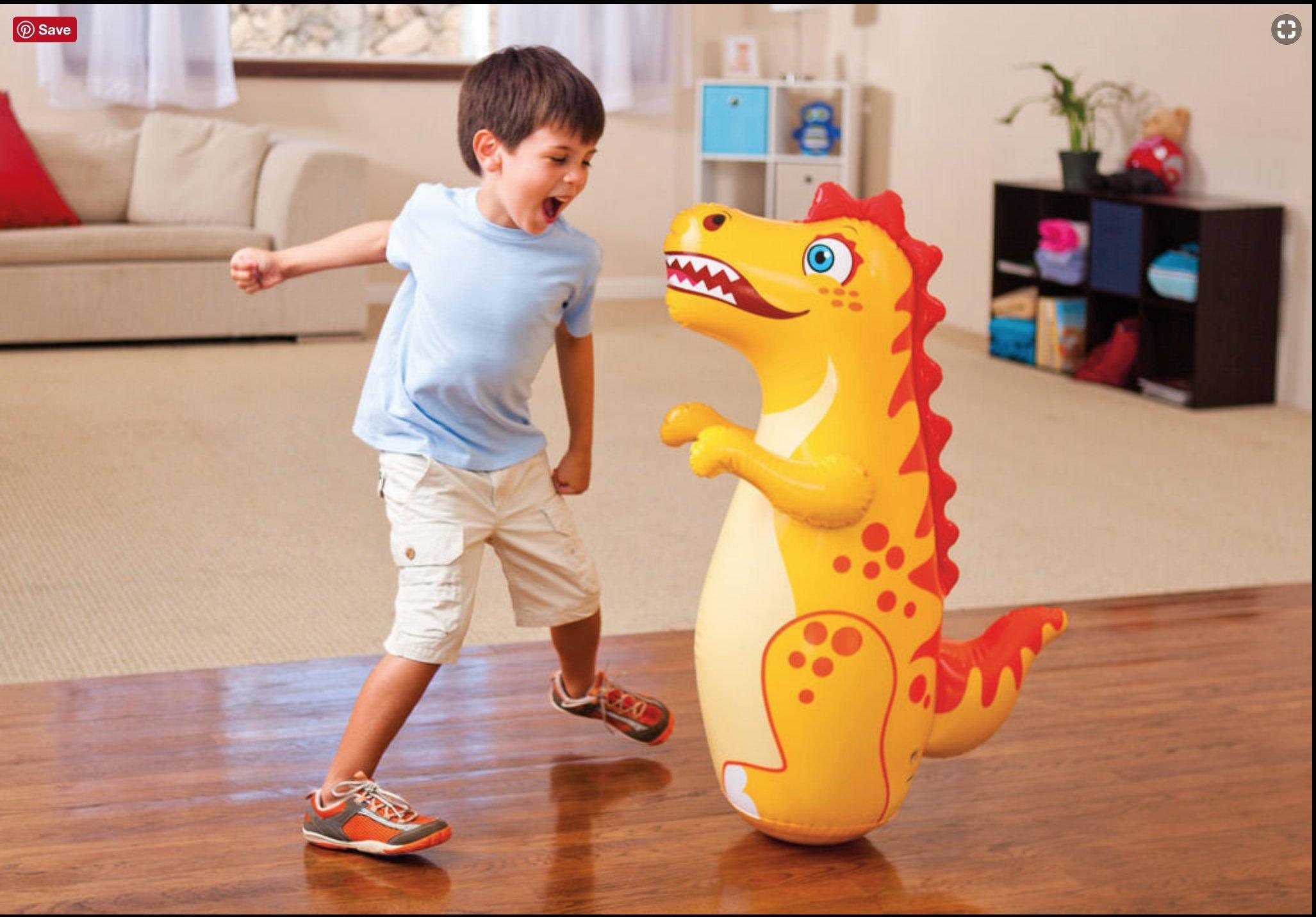 38'' Intex 3D Inflatable Dinasour Bop Bag/Punching Bag by GoodyPlus (Image #2)