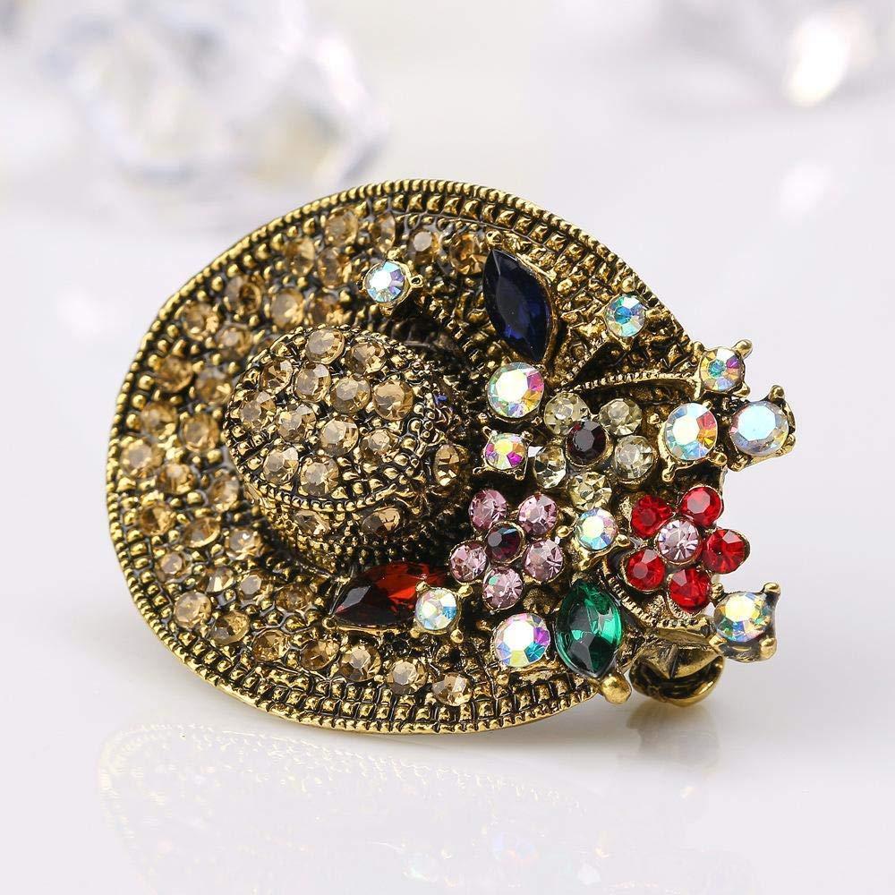 Retro Rustic Style Brooch Fashion Sun hat Chest Belle Plaine Alloy Accessories LanDream Wedding Brooch