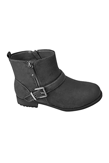 647897533f4 Yours Clothing Wide Fit Women's Buckled Ankle Boots In Eee Fit ...