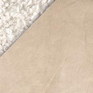 Shannon Fabrics Minky Bonded Llama Cuddle Ivory/Beige Yard