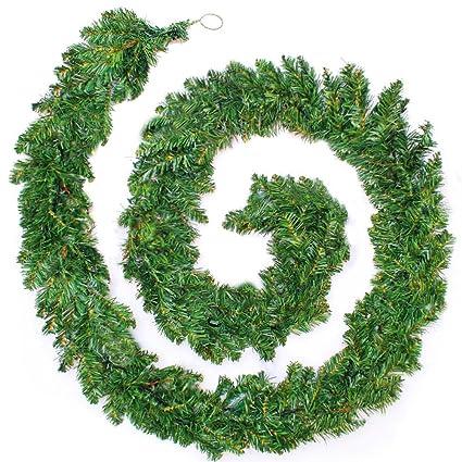 Amazon Com Bluecookies Christmas Garland Artificial Pine Wreath