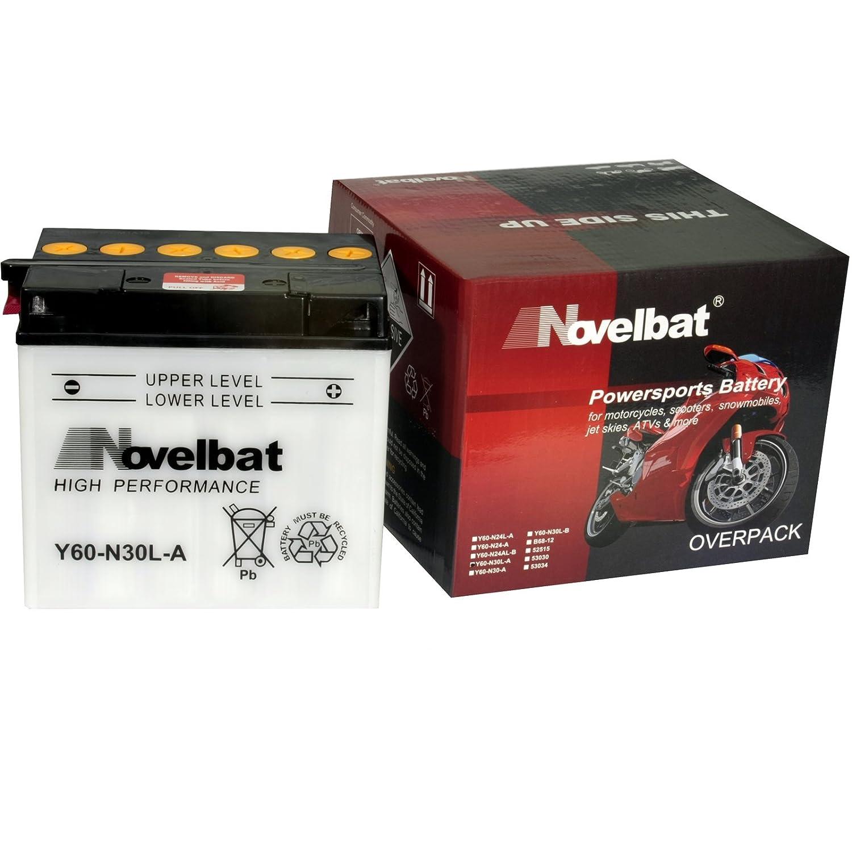 Novelbat AGM YTX7A-BS Motorradbatterie 12V 6Ah 85A