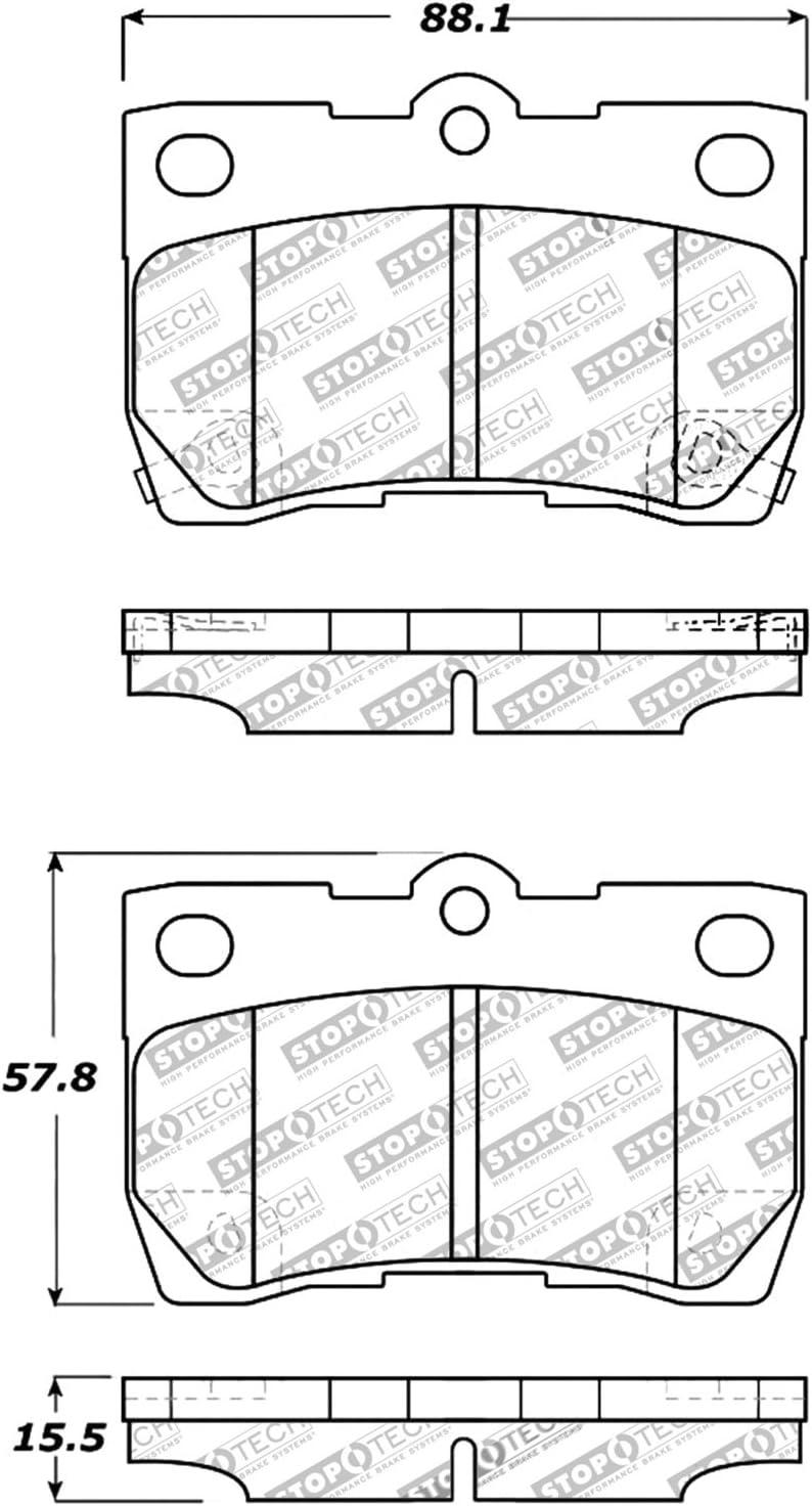 StopTech 309.11130 Street Performance Rear Brake Pad