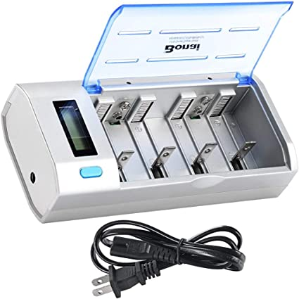 Universal Charger For AA AAA C D Size 9V 6F22 Ni-MH Ni-CD Rechargeable Battery