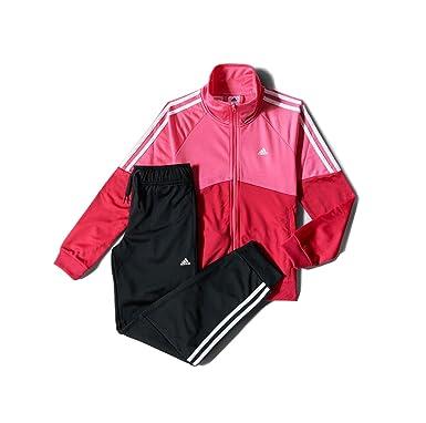 adidas Tuta da Ginnastica Ragazza PinkBlack 11 12 Anni