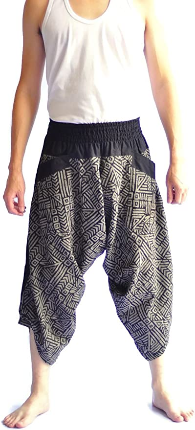 Mens Japanese Style Pants One Size Tradition Stone Baggy Shorts