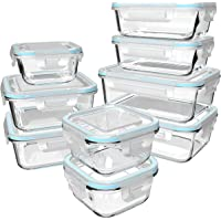 Glass Food Storage Containers with Lids - Glass Containers with Lids for Food - Reusable Bento Box Glass Lunch…