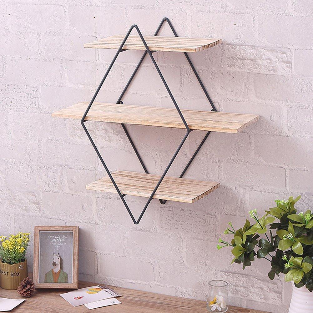 Amazoncom Cheerfullus Iron Wall Shelves Brackets Art Wooden Wall