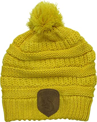 2495be7652034 HARRY POTTER Hufflepuff Knit Beanie with Mock Leather Badge