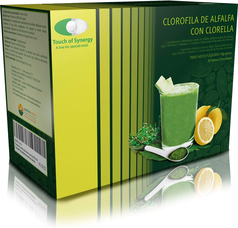 Clorofila de Alfalfa con Clorella 30 sobres. Complemento ...