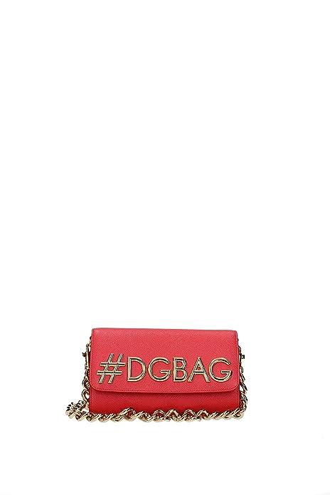 479ae48b85 Dolce Gabbana women s leather shoulder bag original dg girls dauphine red
