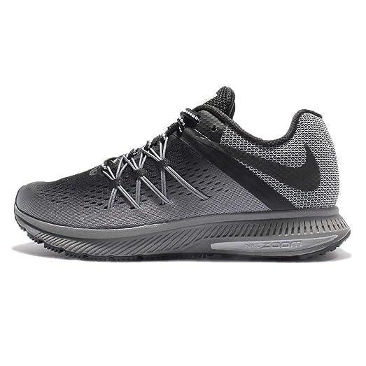 Nike Zoom Winflo 3 Shield Running Shoe Black/Grey - Womens Shoes