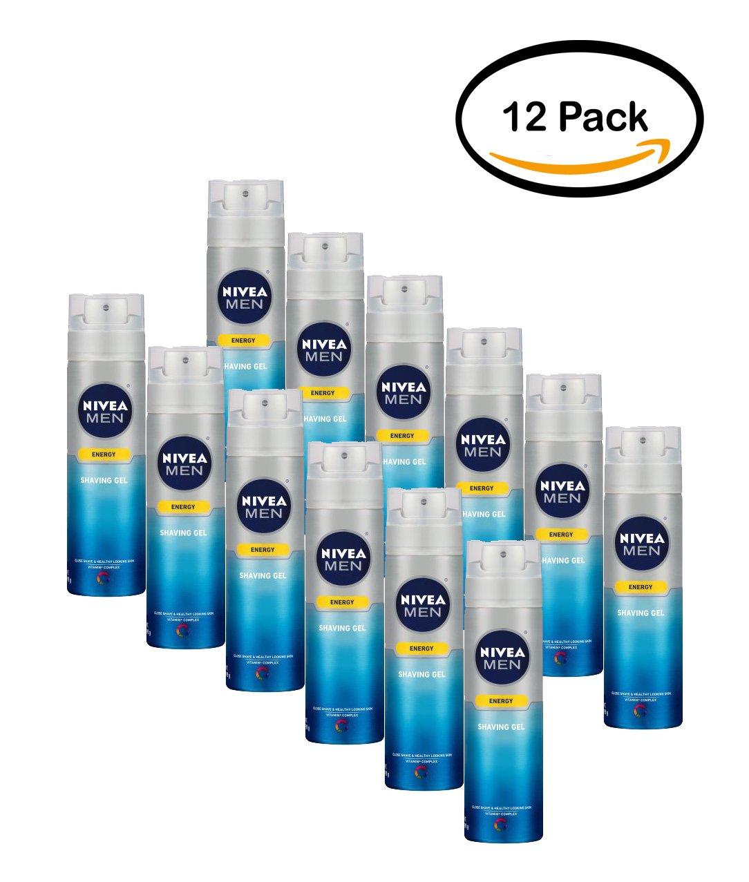 PACK OF 12 - NIVEA Men Energy Shaving Gel 7 oz.