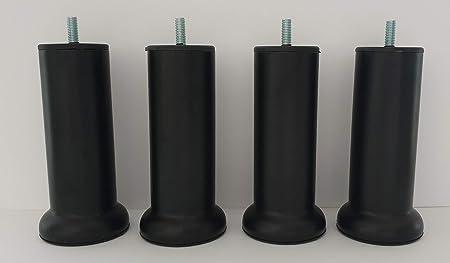 MEGALUXFRANCE - Patas de Cama, somier tapizado de Metal Negro ...