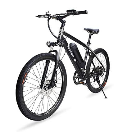 1505ea55cbe Amazon.com   Rattan 26 inch Aluminum Electric Mountain Bike Shimano 7 Speed  E-Bike 36V 10.4Ah Lithium Battery 350W Electric Bicycle 26 inch Adult  Assisted ...