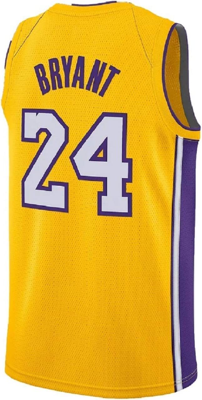 Men/'s Los Angeles Lakers #8 Kobe Bryant Basketball jersey embroidery mesh yellow