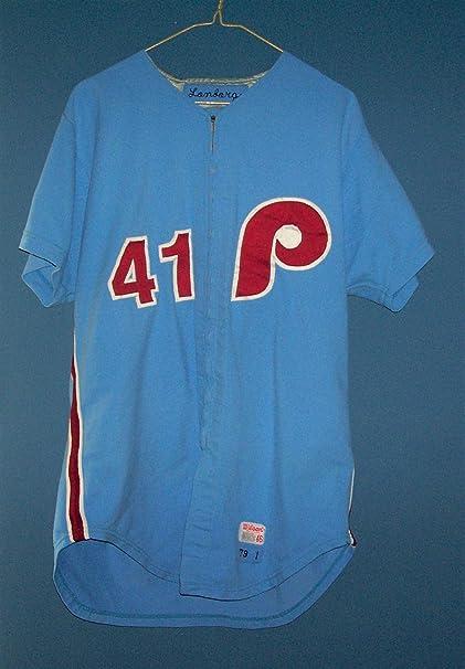 2c4aac0d303 1979 JIM LONBORG PHILADELPHIA PHILLIES VINTAGE AUTHENTIC MLB GAME USED  JERSEY
