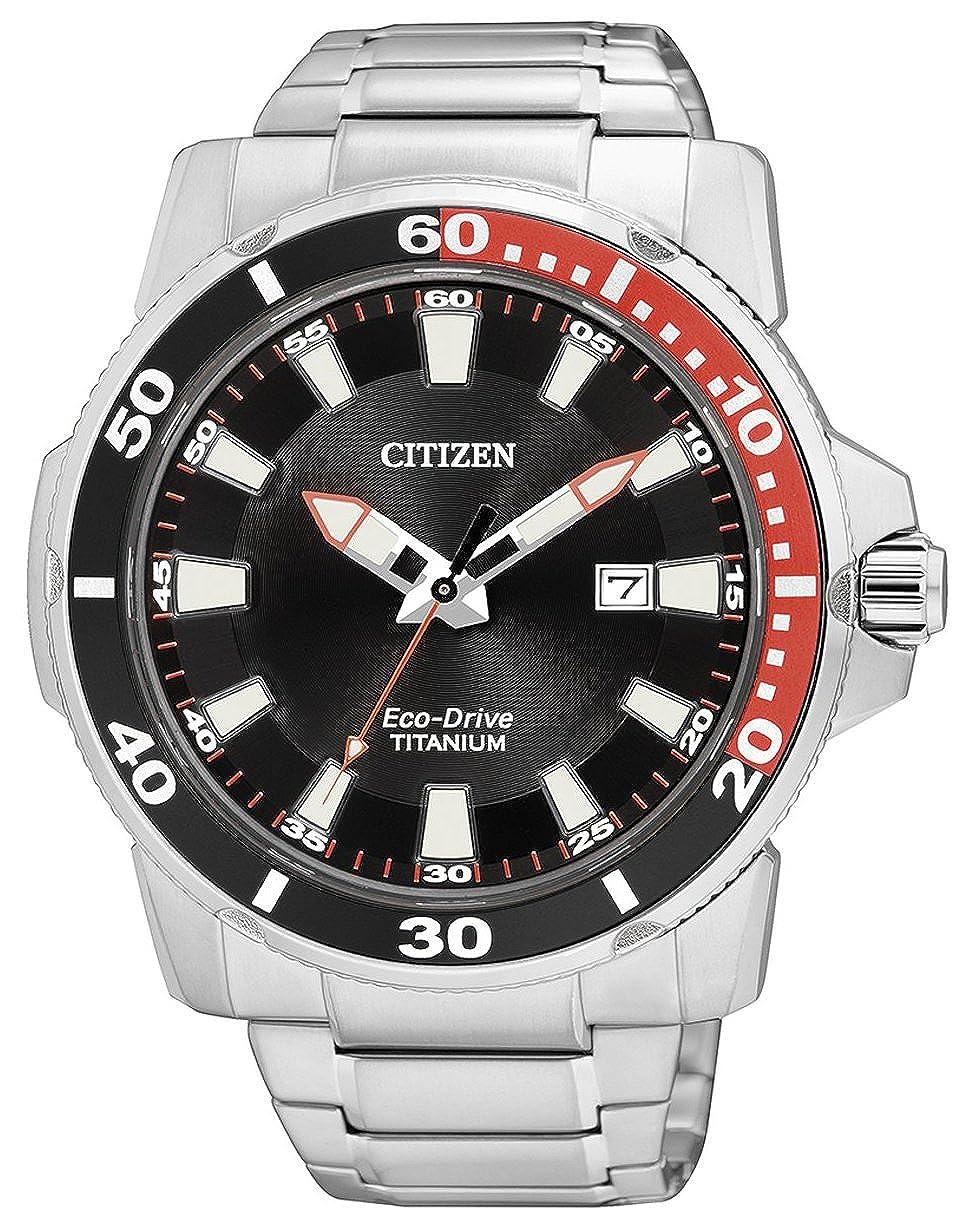Citizen AW1221-51E - Reloj analógico de Cuarzo para Hombre, Correa de Titanio: Amazon.es: Relojes