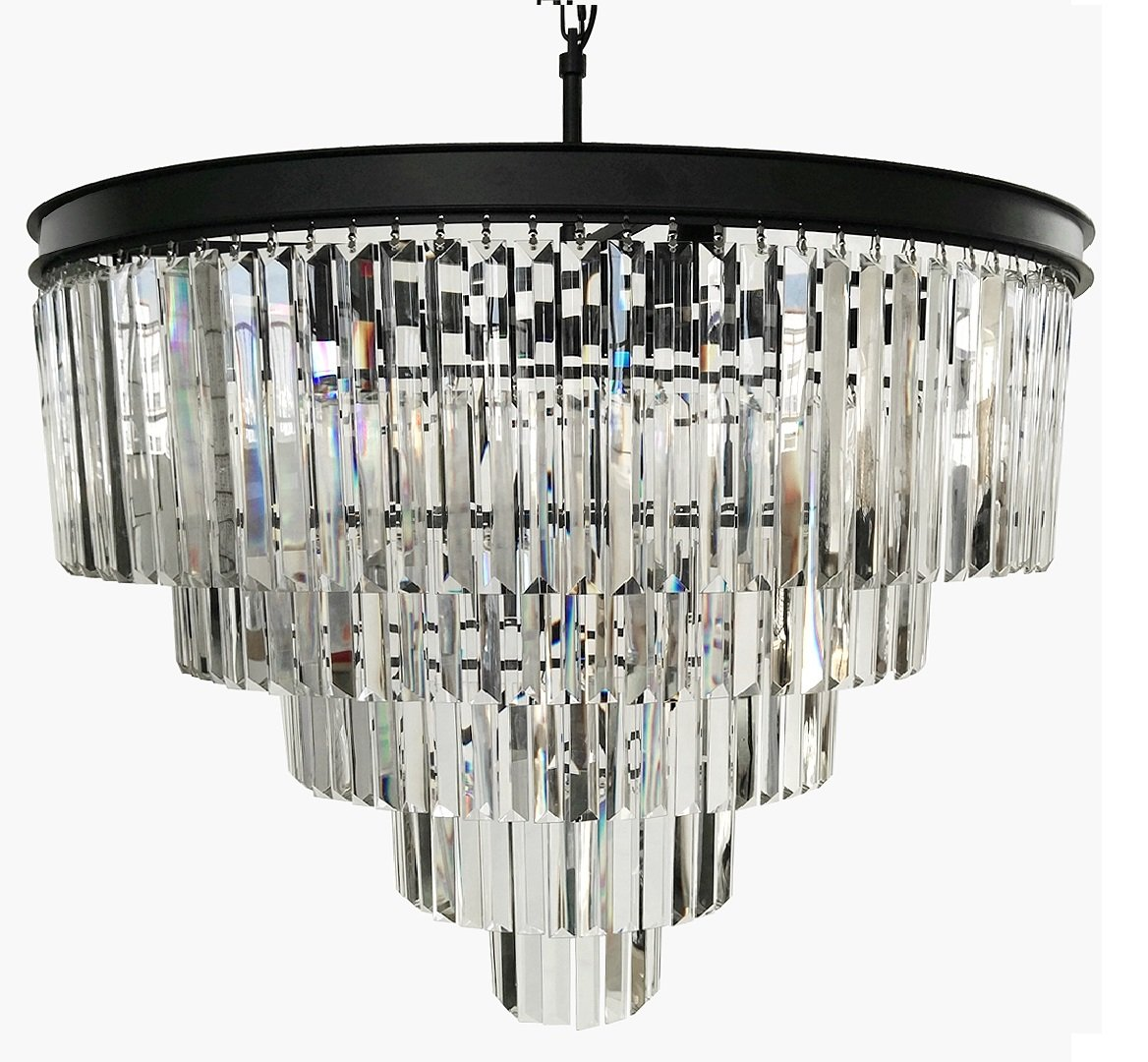 Lumos 12 Lights Luxury Modern Crystal Chandelier Pendant Ceiling Light for Dining Room, Living Room … (12 Lights)