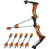 Zing Hyperstrike Bow and 6 Foam Arrows, Clear Orange, Shoots Over 250 Feet