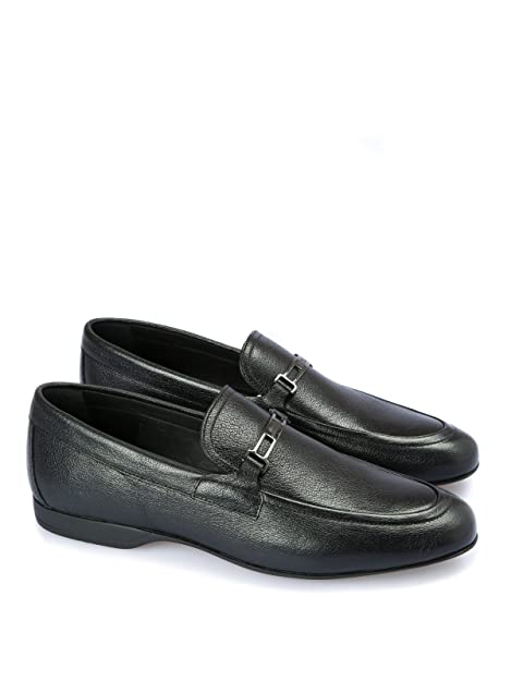 Versace Collection Men s Black Grained Leather Loafers  Amazon.ca ... 99e75e97e43