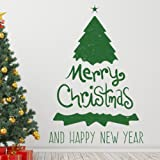 Dragon Honor クリスマス 飾り ウォールステッカー クリスマスツリー グリーン 壁紙 シール ベランダ/子供部屋/リビングに対応 インテリア はがせる 生活防水