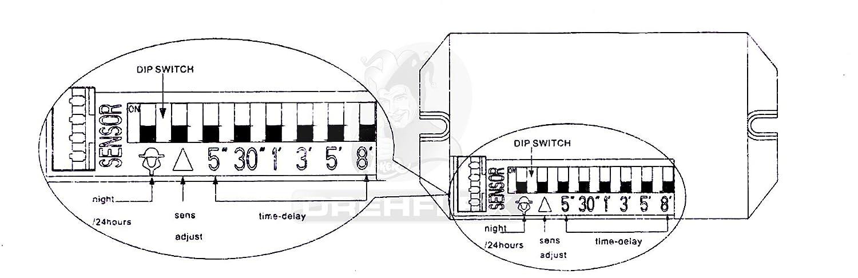 Drehflex® Mini PIR-Bewegungsmelder zum Einbauen, 240Volt, LED ...