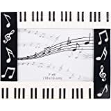 piano keyboard musical notes treble clef decorative 5x7 picture frame - Music Picture Frame
