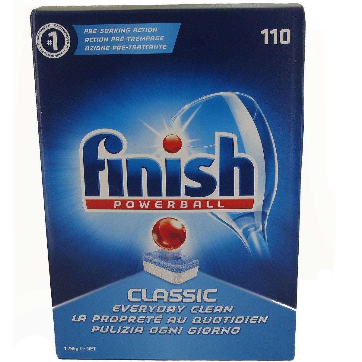 Amazon.com: Finish Powerball Clásico 110 Pack Pastillas de ...